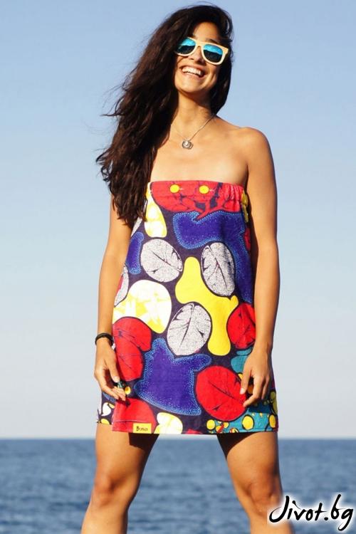 """Разкошна плажна рокля, парео и кърпа в едно """"Pattern"""" / Бунга"""