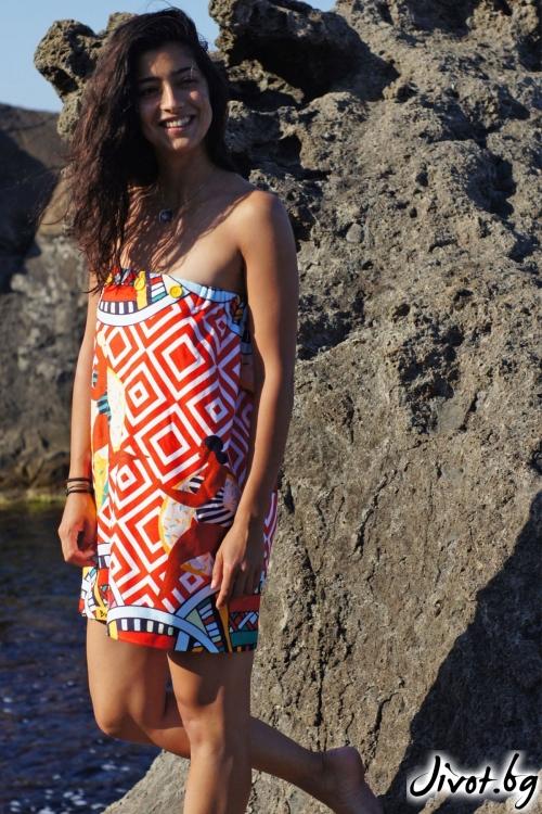 """Парео, плажна рокля и кърпа в едно """"Summer"""" / Бунга"""