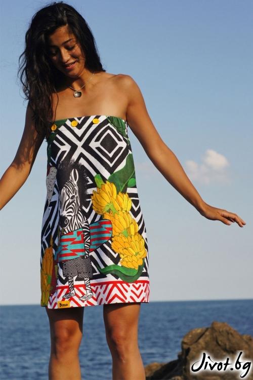 """Кърпа за плаж, парео и рокля в едно """"Surf"""" / Bunga"""