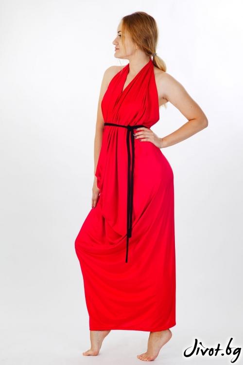 Дълга червена рокля / VЯRA за MUSE SHOP