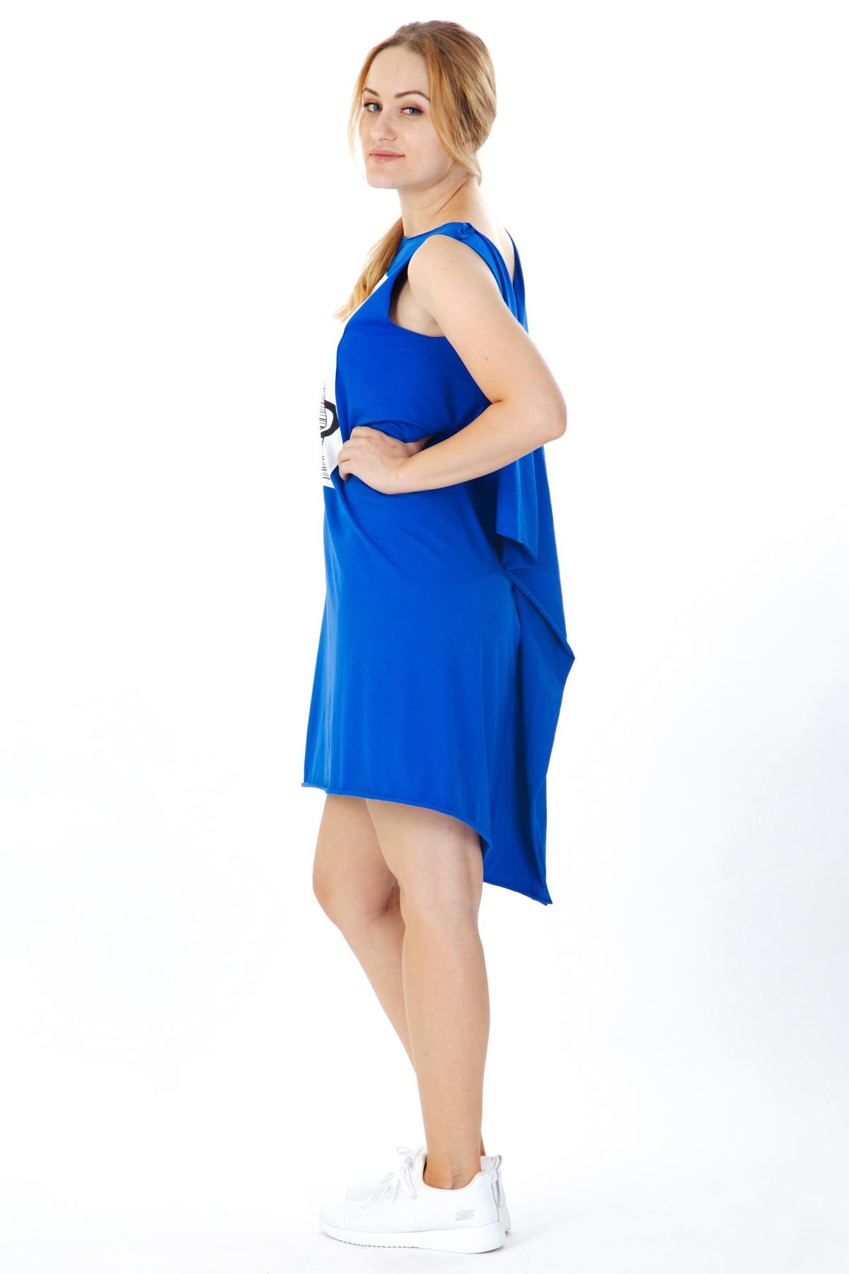 Къса синя рокля със щампа / VЯRA за MUSE SHOP
