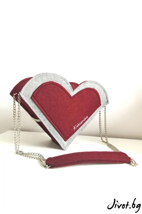 """Чанта """"Love"""" със сменяеми сърца / EMVy"""