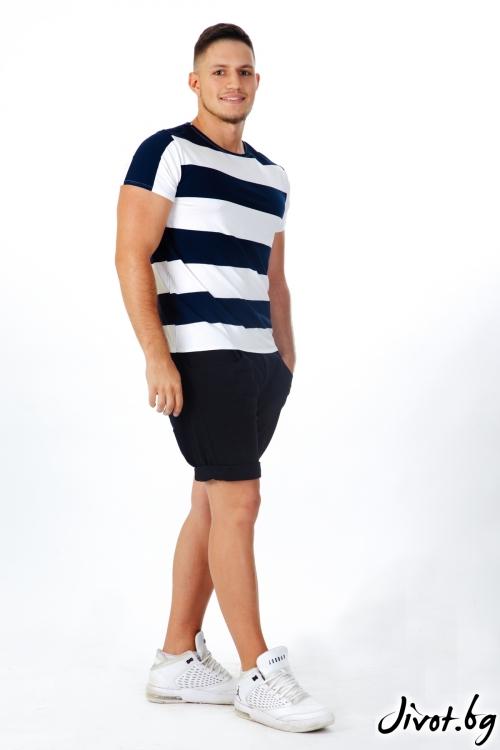 Мъжка тениска на райета / OTIVA