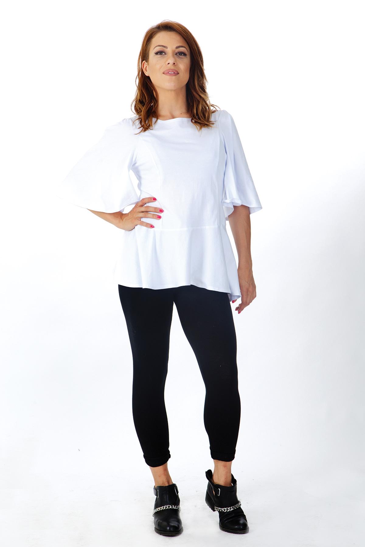 Дамска блуза от шифон с къс ръкав / OTIVA