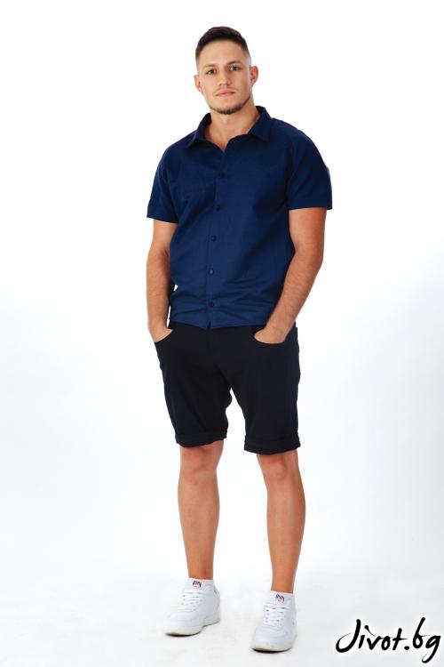 Мъжка тъмносиня риза / OTIVA