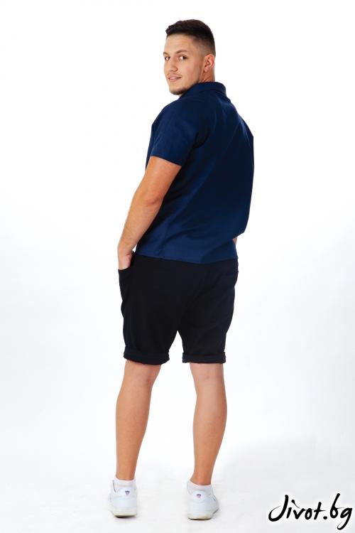 Мъжки черни шорти / OTIVA