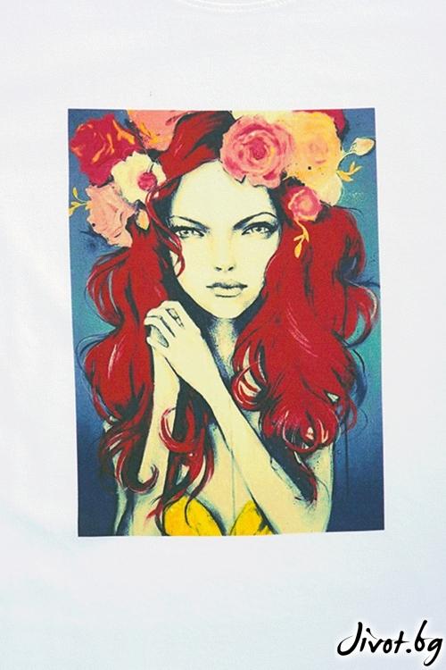 Червенокоска с цветя / VЯRA за MUSE SHOP