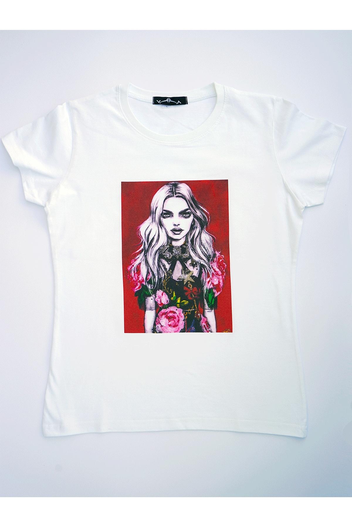 Бяла тениска моден шик / VЯRA за MUSE SHOP