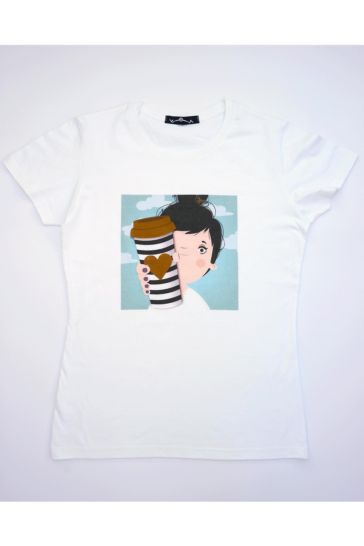 Бяла тениска Шоколадова любов / VЯRA за MUSE SHOP