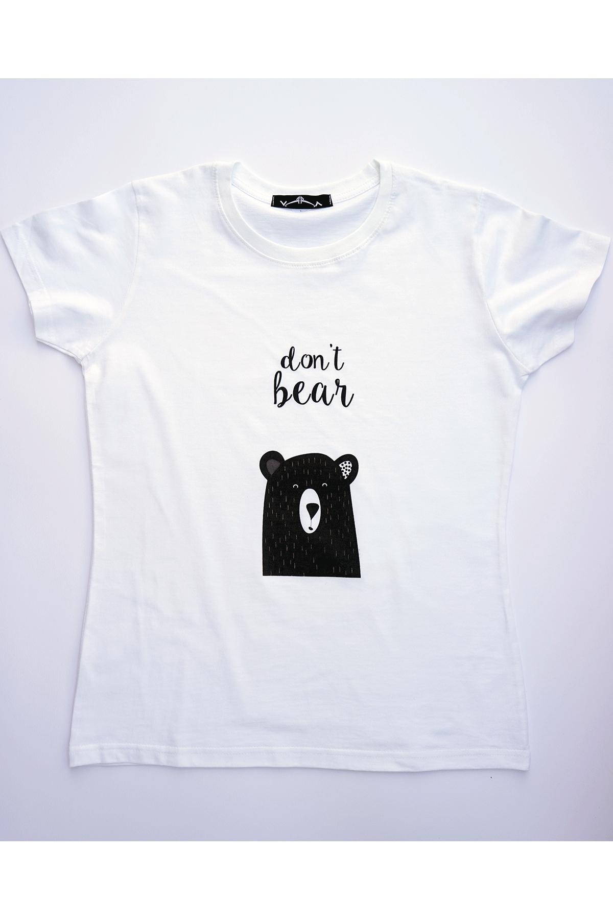 Бяла тениска don't bear / VЯRA за MUSE SHOP