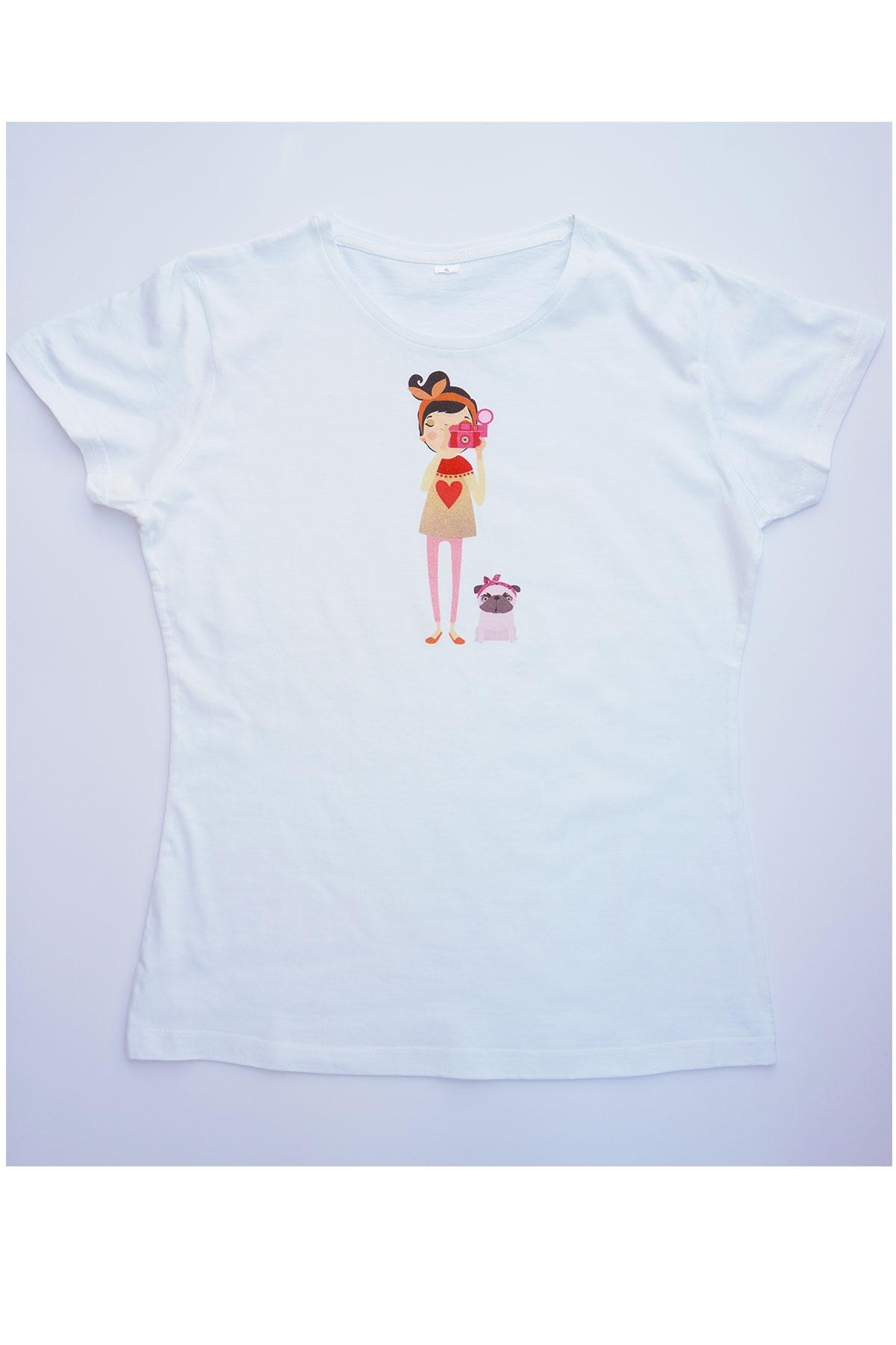 Бяла тениска Хоби / VЯRA за MUSE SHOP