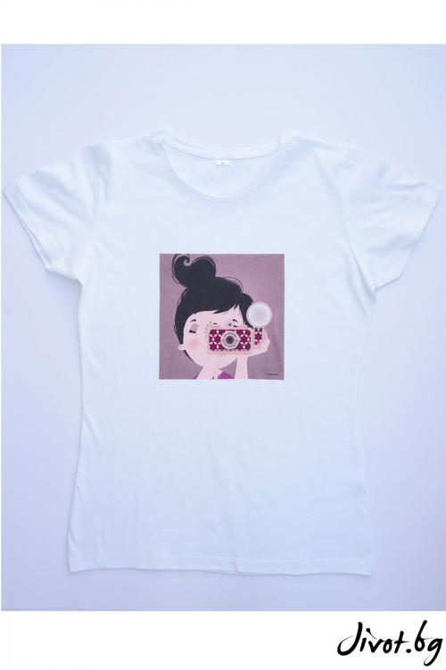 Бяла тениска Вдъхновение / VЯRA за MUSE SHOP