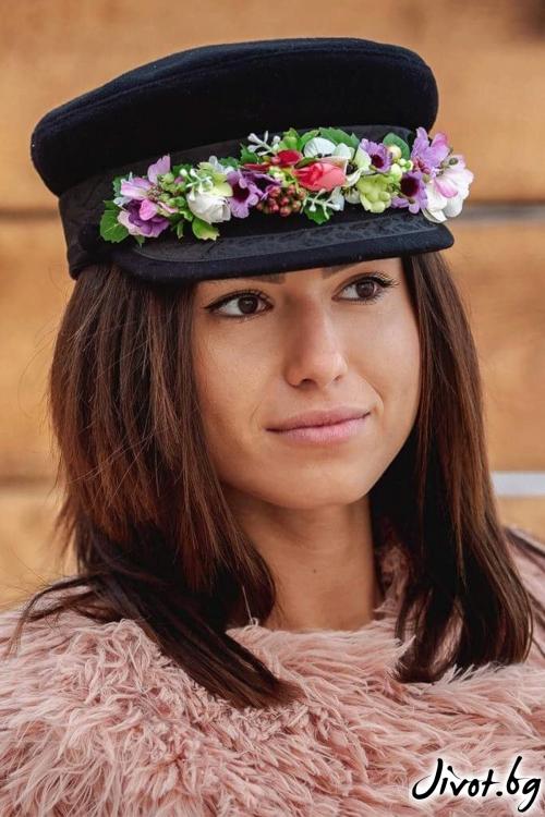 """Красива стилна шапка """"Цветни въздишки"""" / FloBow"""