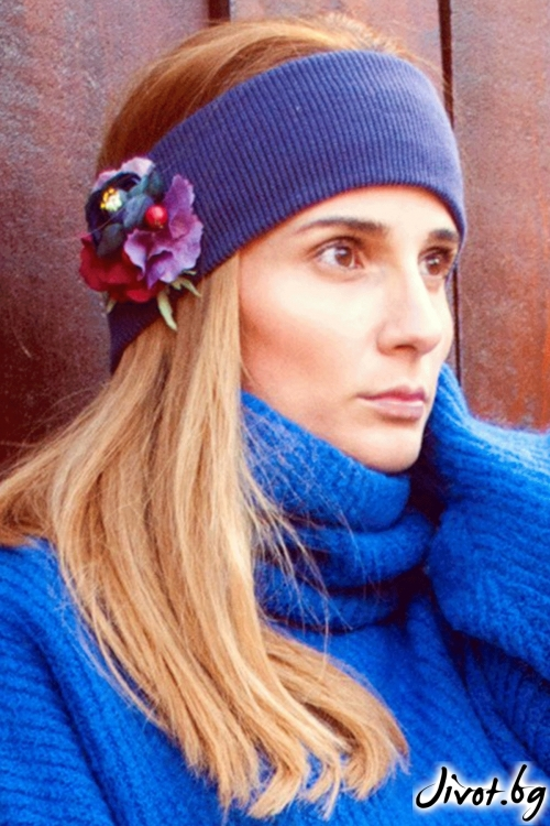 "The Winter Headband – ""Purple Power"" / Forget-me-not"