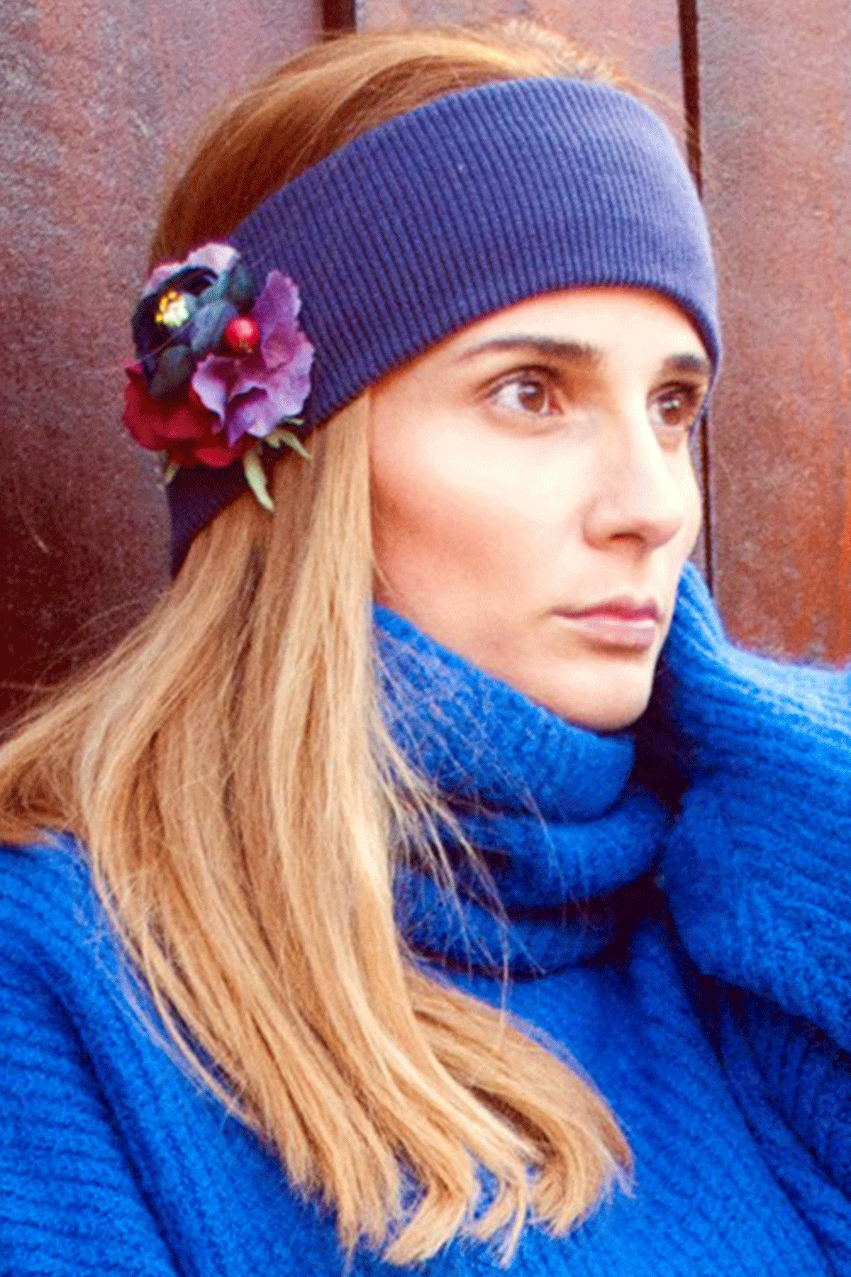 """The Winter Headband – """"Purple Power"""" / Forget-me-not"""