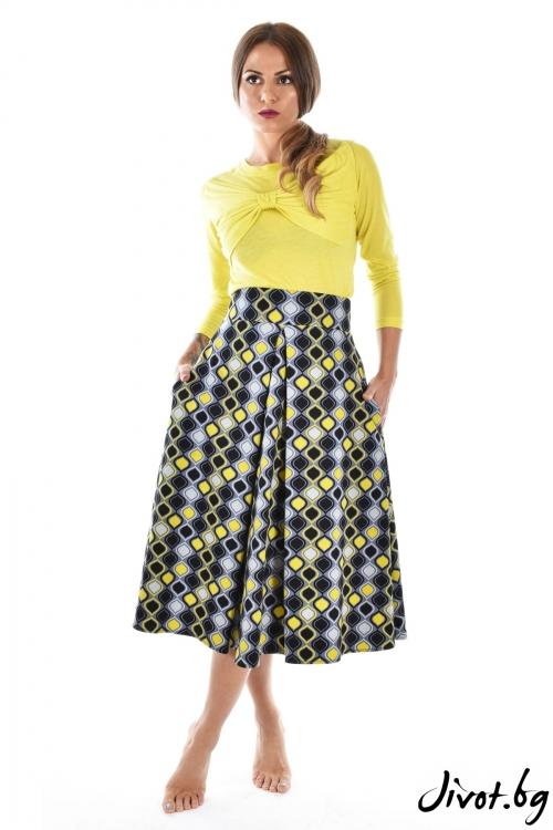 Красива пола в жълто и сиво / Mon Chou