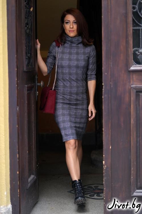 Красива дамска рокля на каре / VЯRA за MUSE SHOP