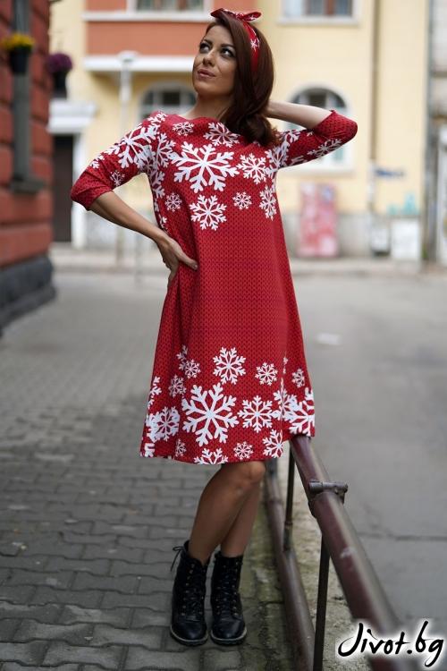 """Дамска рокля """"Снежинка"""" / VЯRA за MUSE SHOP"""