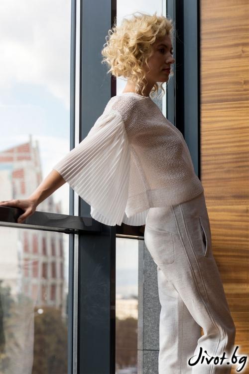 """Стилна блуза - """"Angel wings"""" / Модна къща АМБИЦИЯ"""