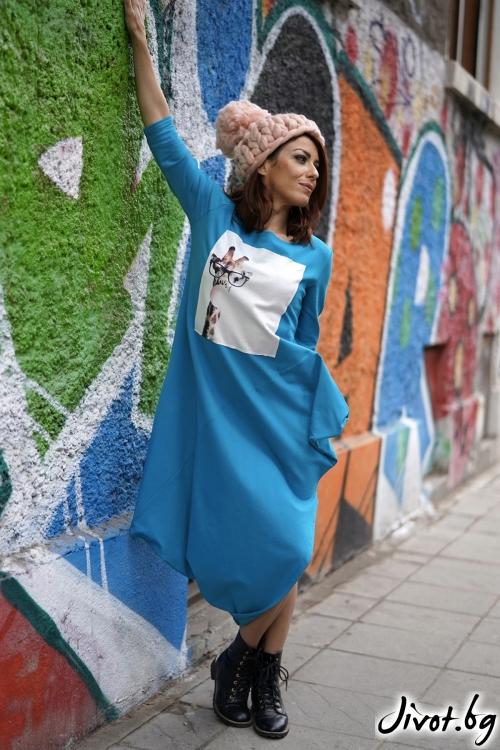 """Дамска рокля """"Жирафът"""" / VЯRA за MUSE SHOP"""
