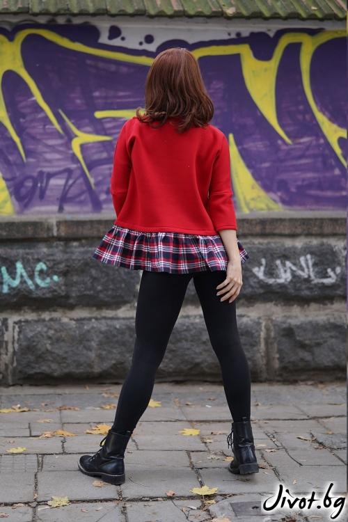 """Червена блуза """"Мirage"""" / VЯRA за MUSE SHOP"""