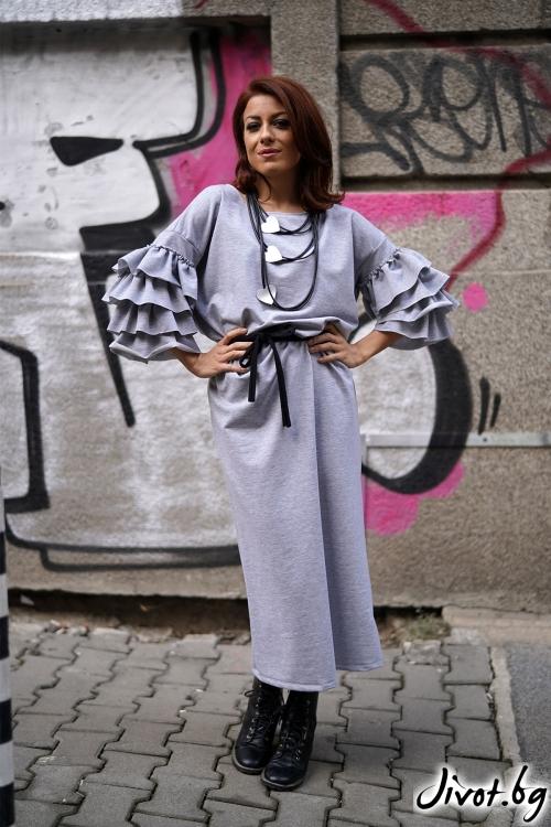 """Дълга рокля """"Beauty"""" / VЯRA за MUSE SHOP"""