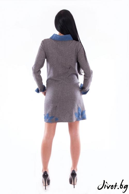 Красива рокля от вълнен плат / Elegance Fashion