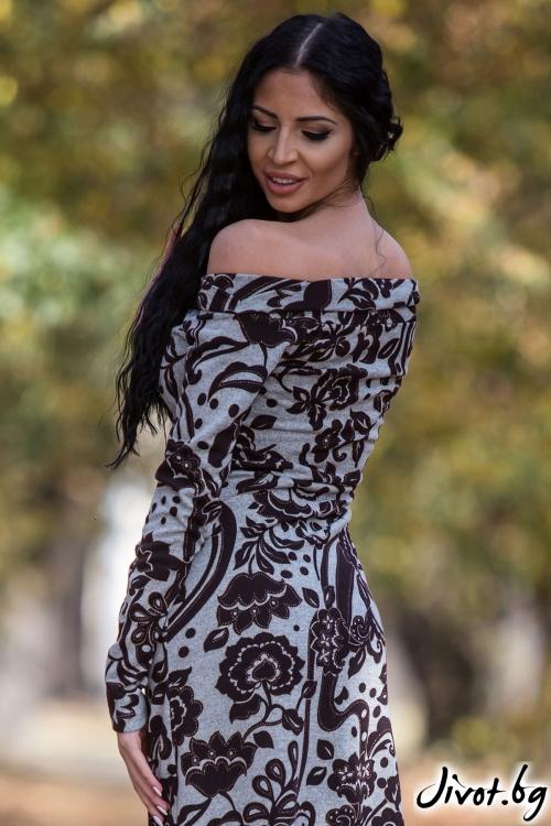 """Семпла рокля """"""""Флора"""" / Elegance Fashion"""