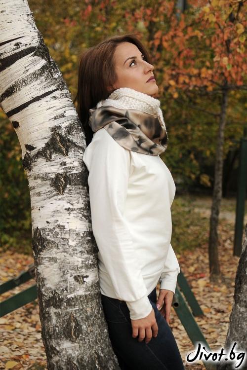 """Дамски шал от вълна и коприна """"Cool'' / Décollage"""