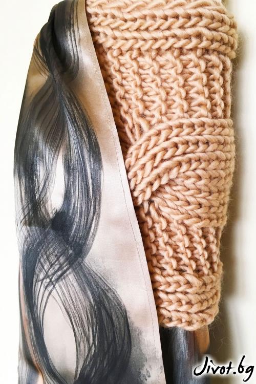 """Дамски шал от вълна """"Silk"""" / Décollage"""