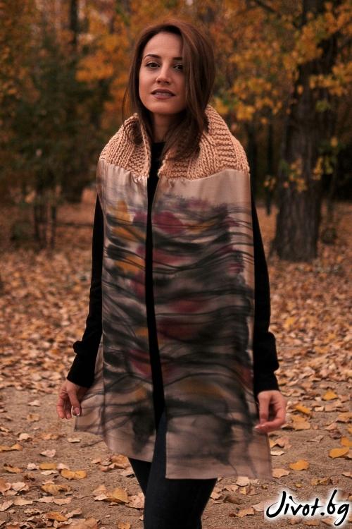 """Дамски шал от вълна и коприна """"Nature"""" / Décollage"""