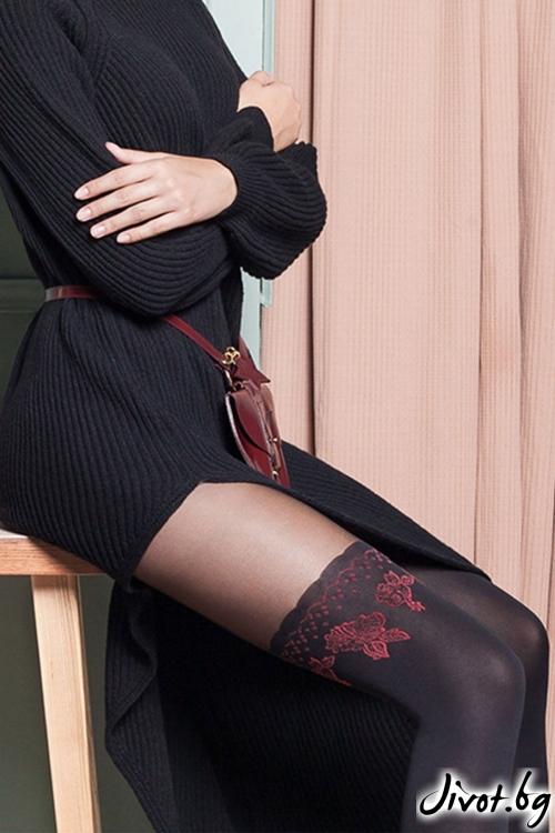 Луксозен чорапогащник с бродерия Gabriella / Cheryl / 421