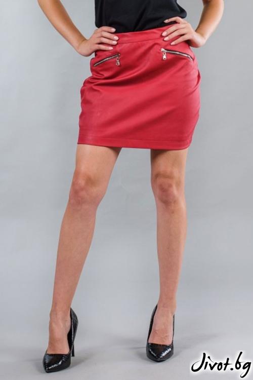 Дамска кожена пола BW152 / BAZA