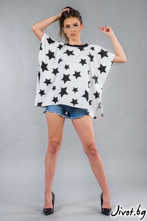 Дамска широка тениска BW151 / BAZA