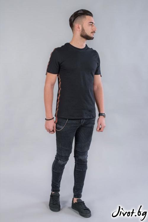 Мъжка тениска с кант BM531 / BAZA