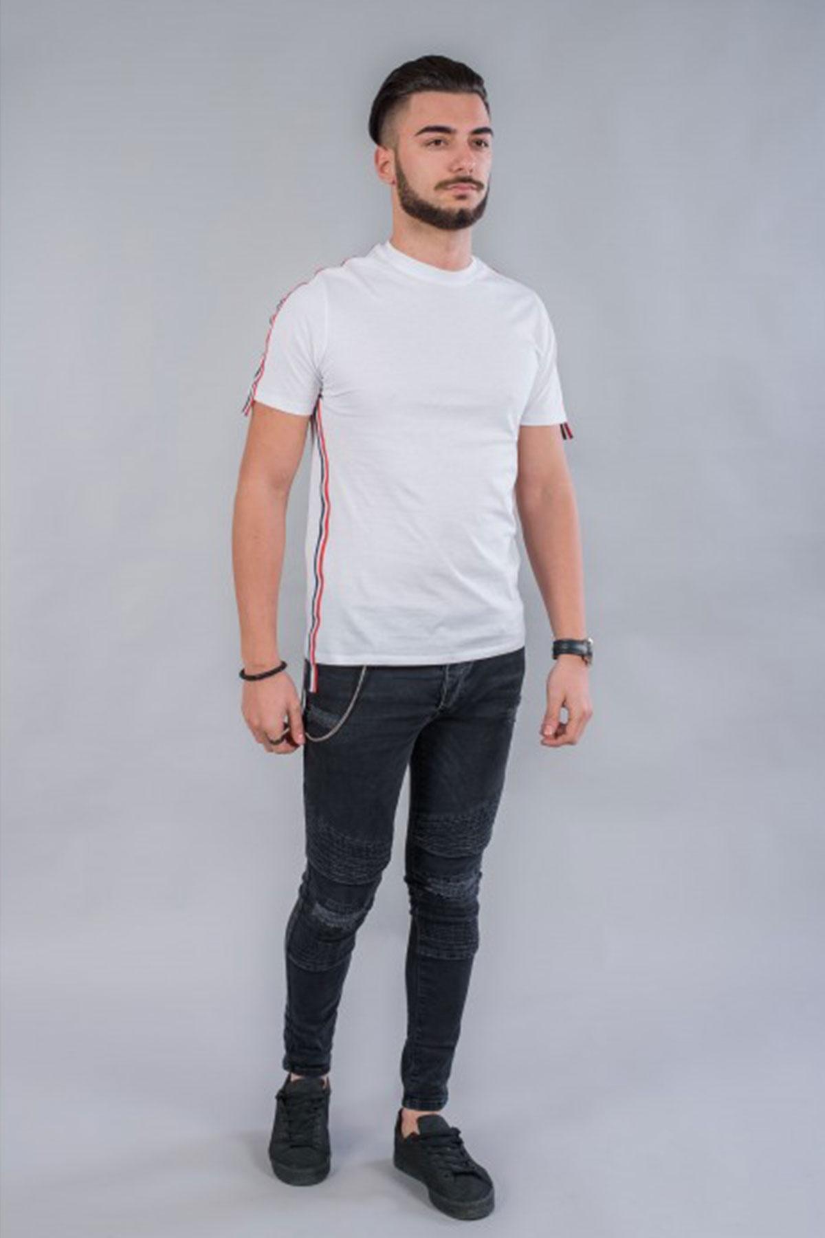 Мъжка тениска с кант BM532 / BAZA