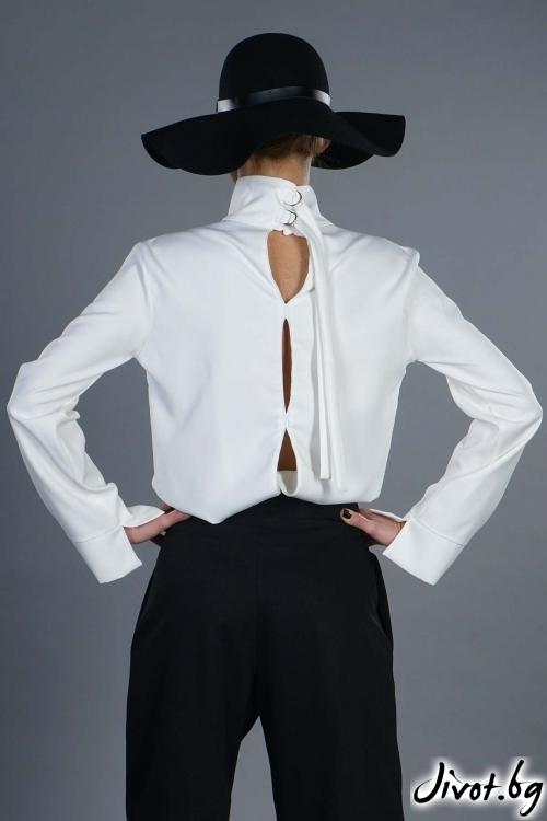"""Бяла блуза """"Jasmine"""" / EXPERIMENT"""