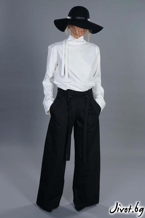 Великолепен черен панталон с джобове / EXPERIMENT