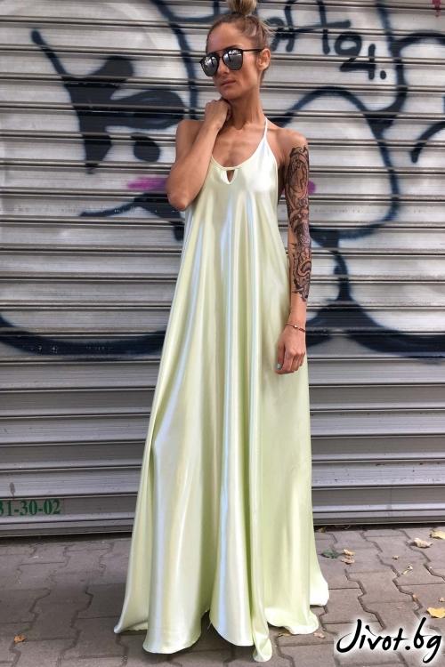 Красива рокля от сатен / Cherry You