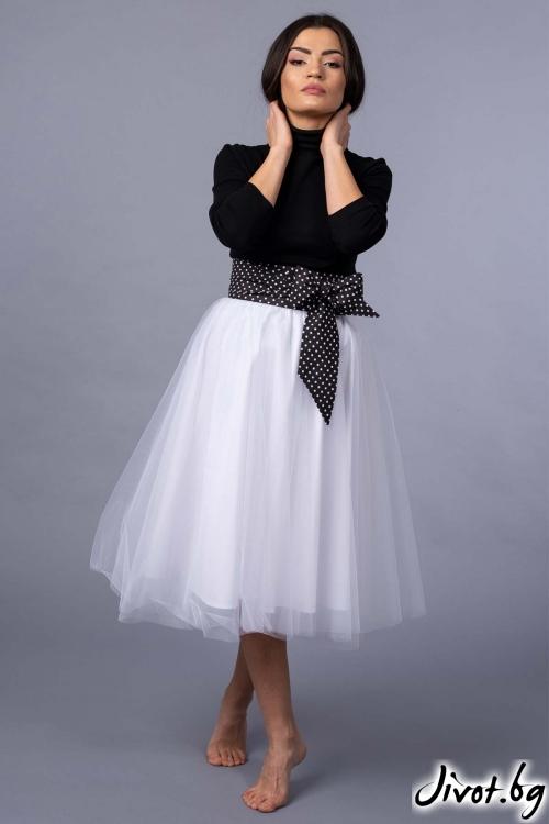 """Елегантна бяла пола от тюл """"White dreams"""" / VERNE"""