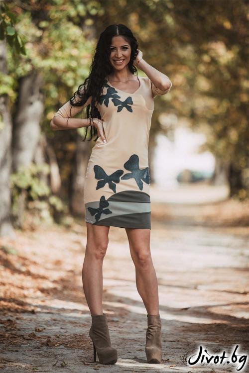 "Елегантна вталена рокля ""AMIRO""/Ashante"