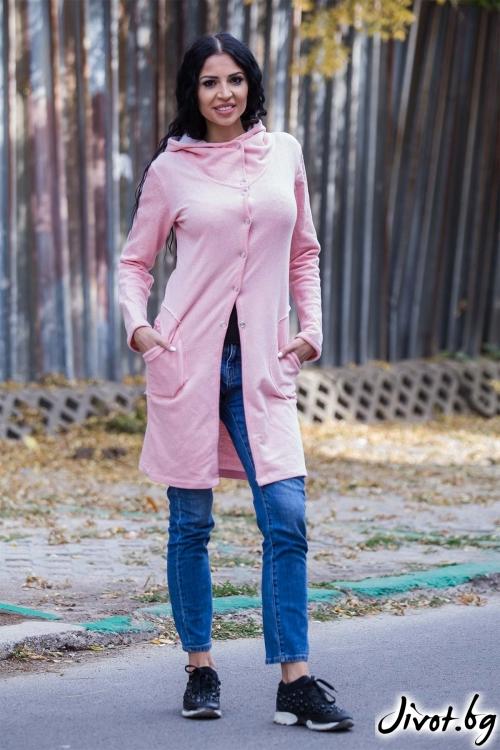 Дамска жилетка в нежен розов цвят / Ashante