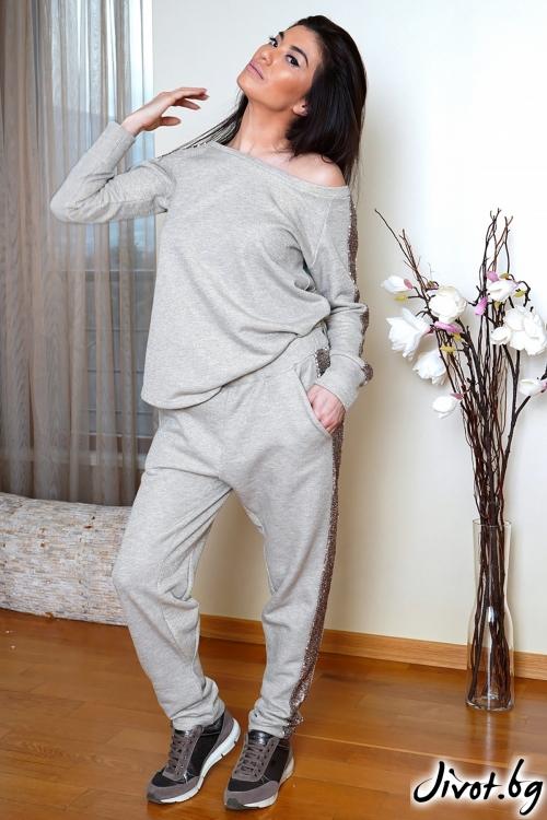 """Дамски спортен екип с пайети """"BIARA""""/Shushi"""