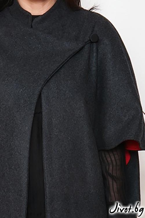 """Сиво кашмирено късо палто """"ZAGAT """"/ OTIVA"""
