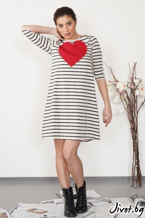 """Дамска рокля """"Red heart"""" / VЯRA за MUSE SHOP"""