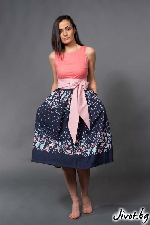 """Дамска къса рокля """"Floral""""/ VERNE"""