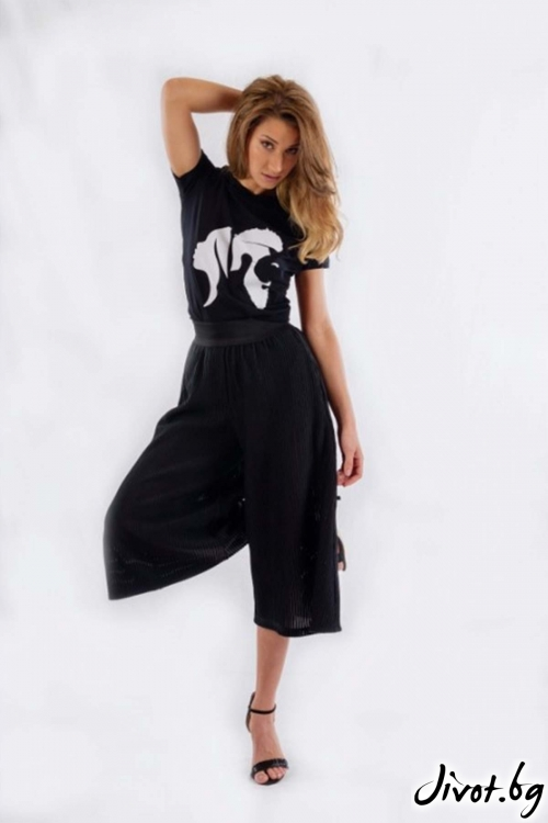Дамски къс широк панталон BW157 / BAZA