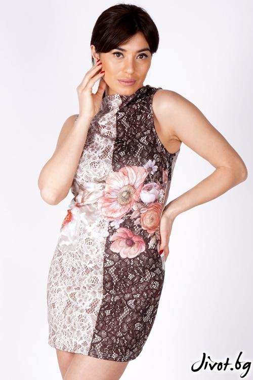 """Дамска рокля """"Beautiful flowers""""/Shushi"""