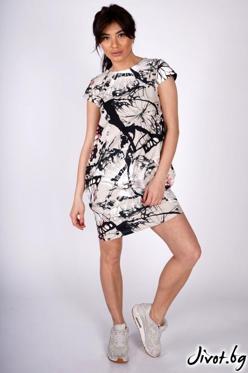 "Дамска рокля ""Free Butterflies""/Shushi"
