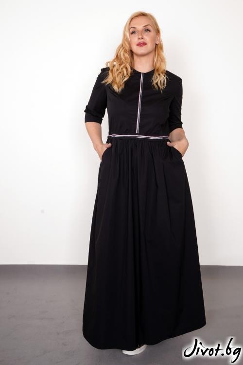 "Дълга черна рокля ""Black love""/PIARET"